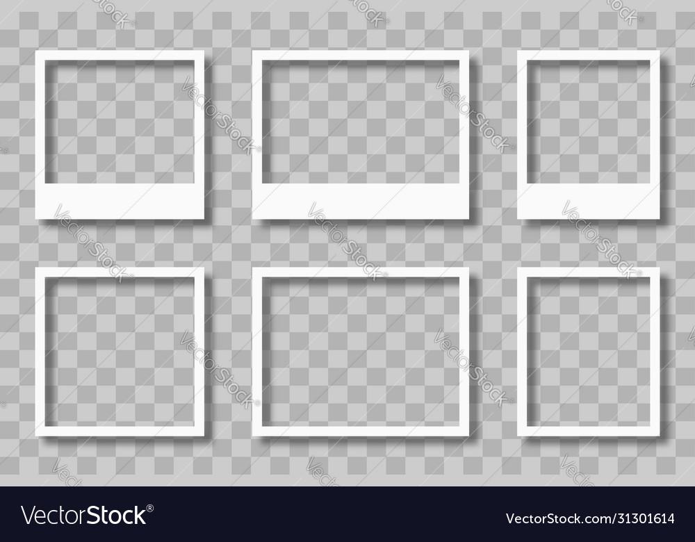 Photo frames mockup on transparent background