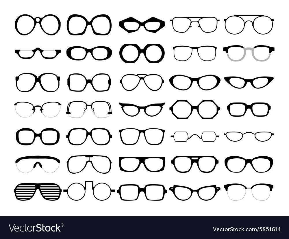 Set of glasses Retro wayfarer geek
