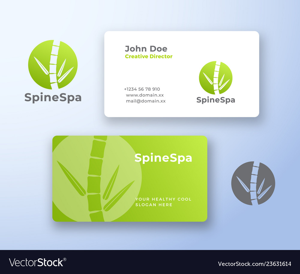 Spine spa abstract logo and business card