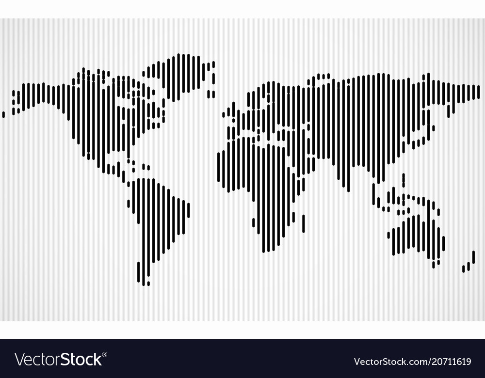 Abstract world map with lines