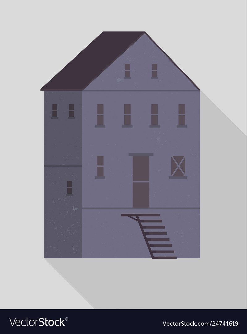 Small Windows And Stairs Vector Image