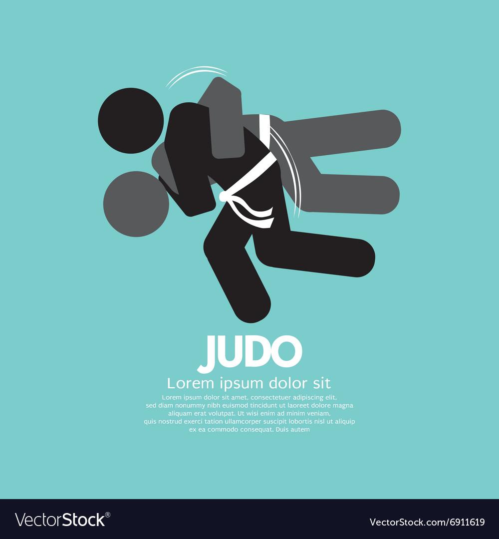 Black Symbol Judo Fighter