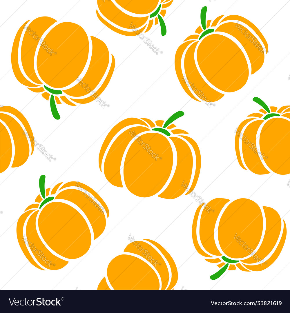 Cartoon pumpkins on a white background simple