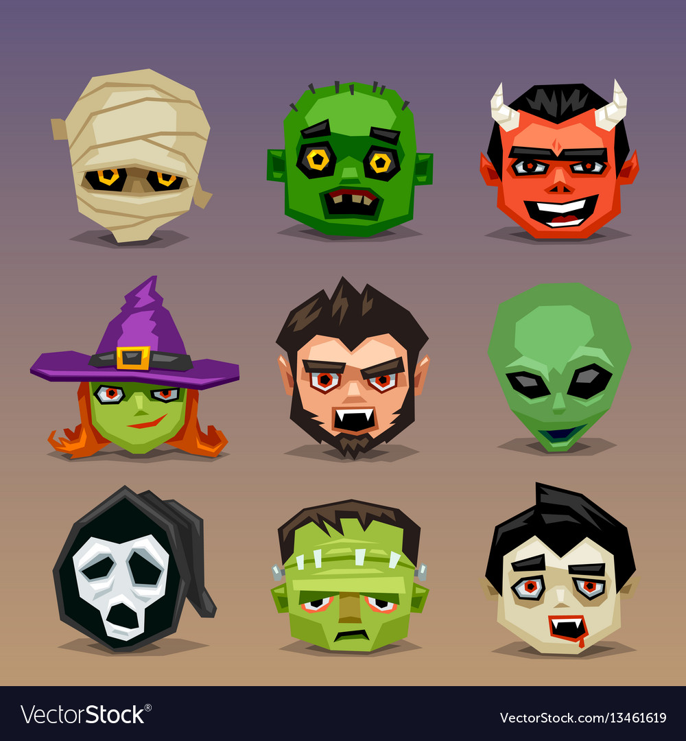 Funny halloween icons-set 5