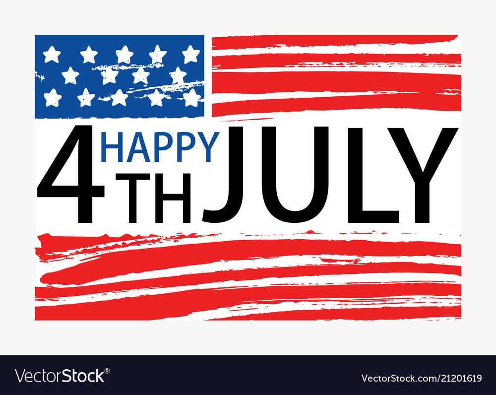 Happy 4th july inscription written on american
