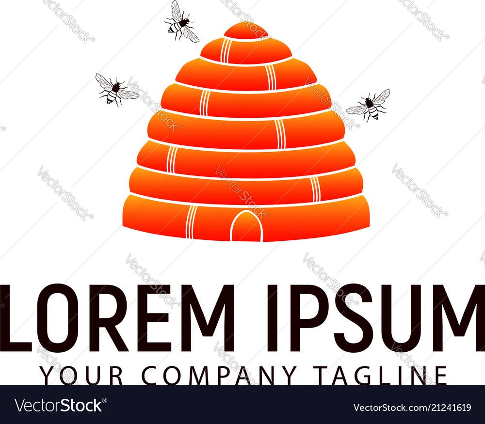Honey bee logo design concept template