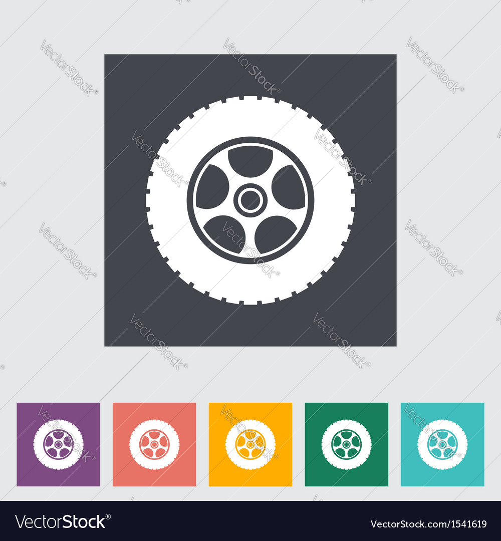 Icon car wheel