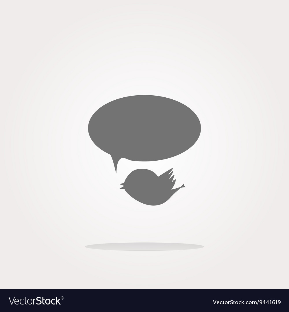 Isolated internet web icon with bird and