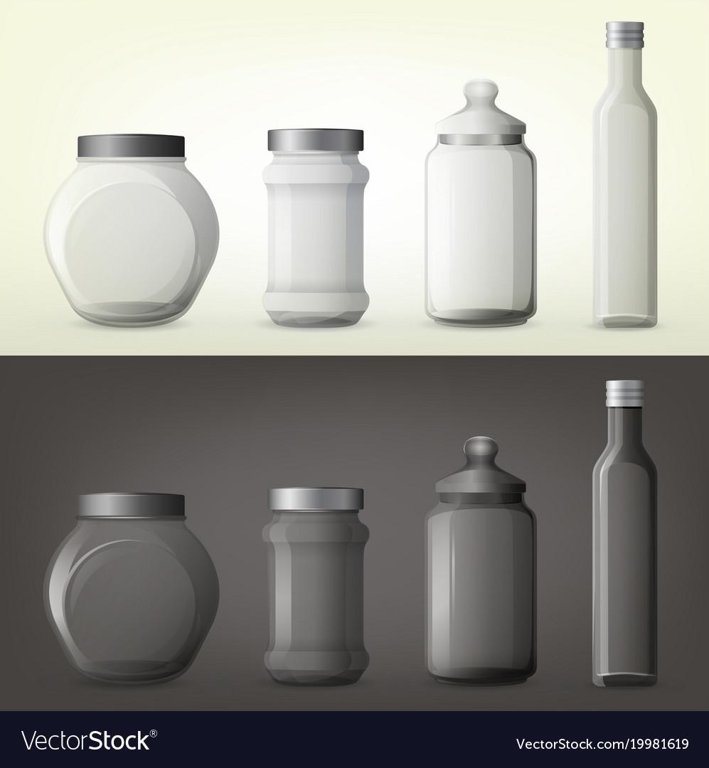 Jar or glass bottles for spice or seasoning vector image