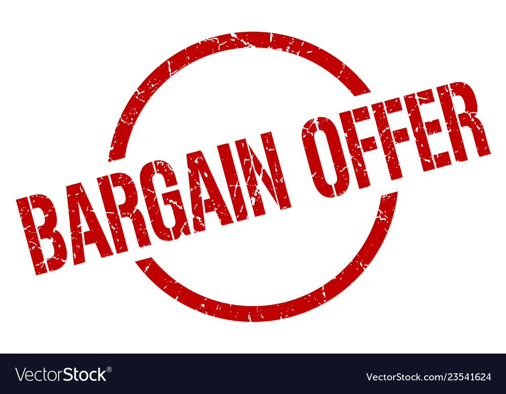 Bargain offer stamp vector image on VectorStock