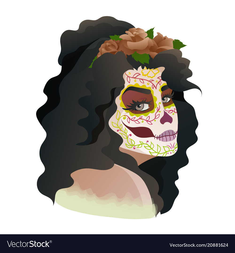 Catrina Day Of The Dead Symbol Of Mexico Vector Image