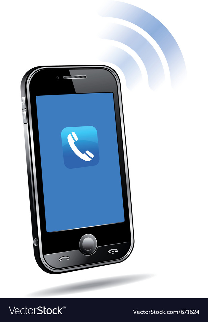 Cell phone ringing vector image