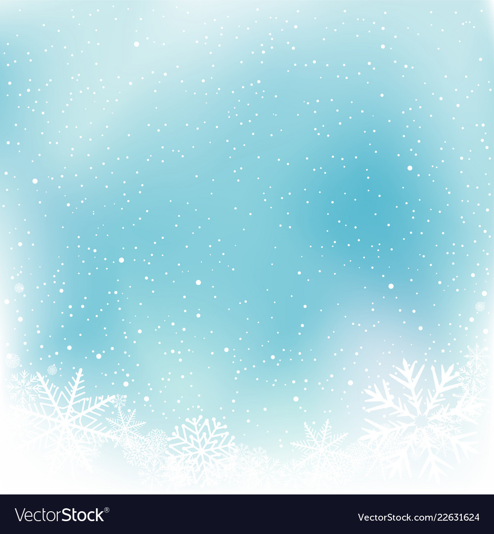 christmas blue snow winter template royalty free vector