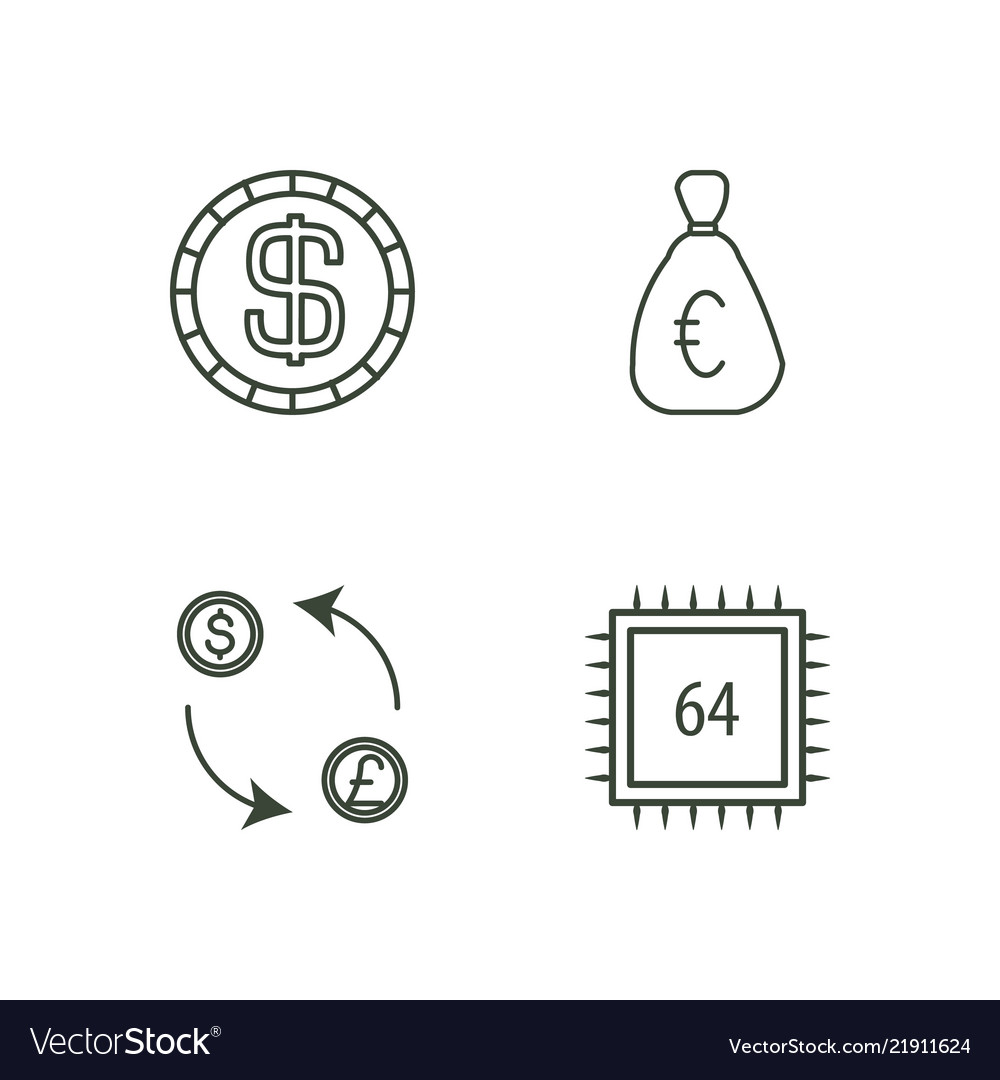 Commerce outline icons set