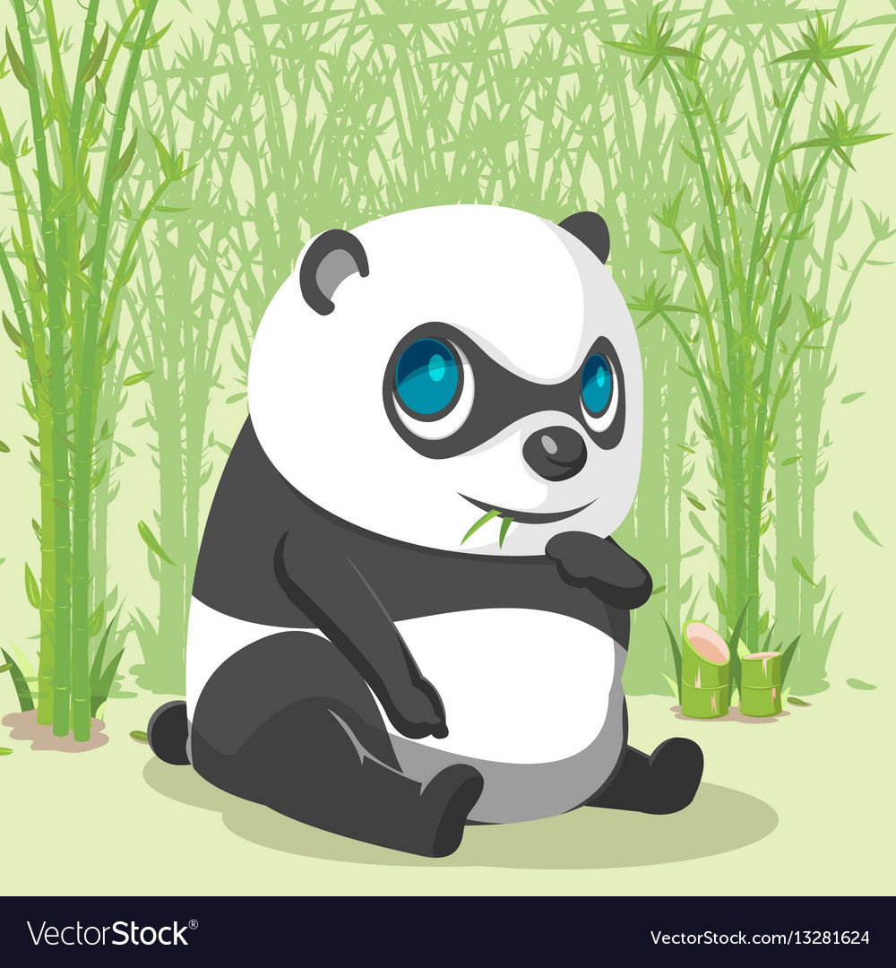Panda baby cute cartoon character