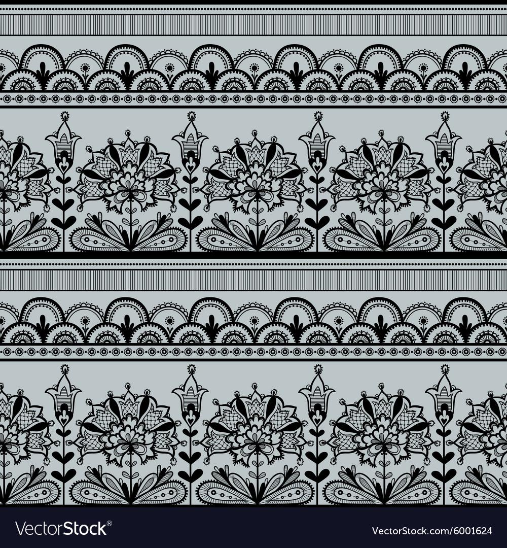 Seamless Black Lace Pattern