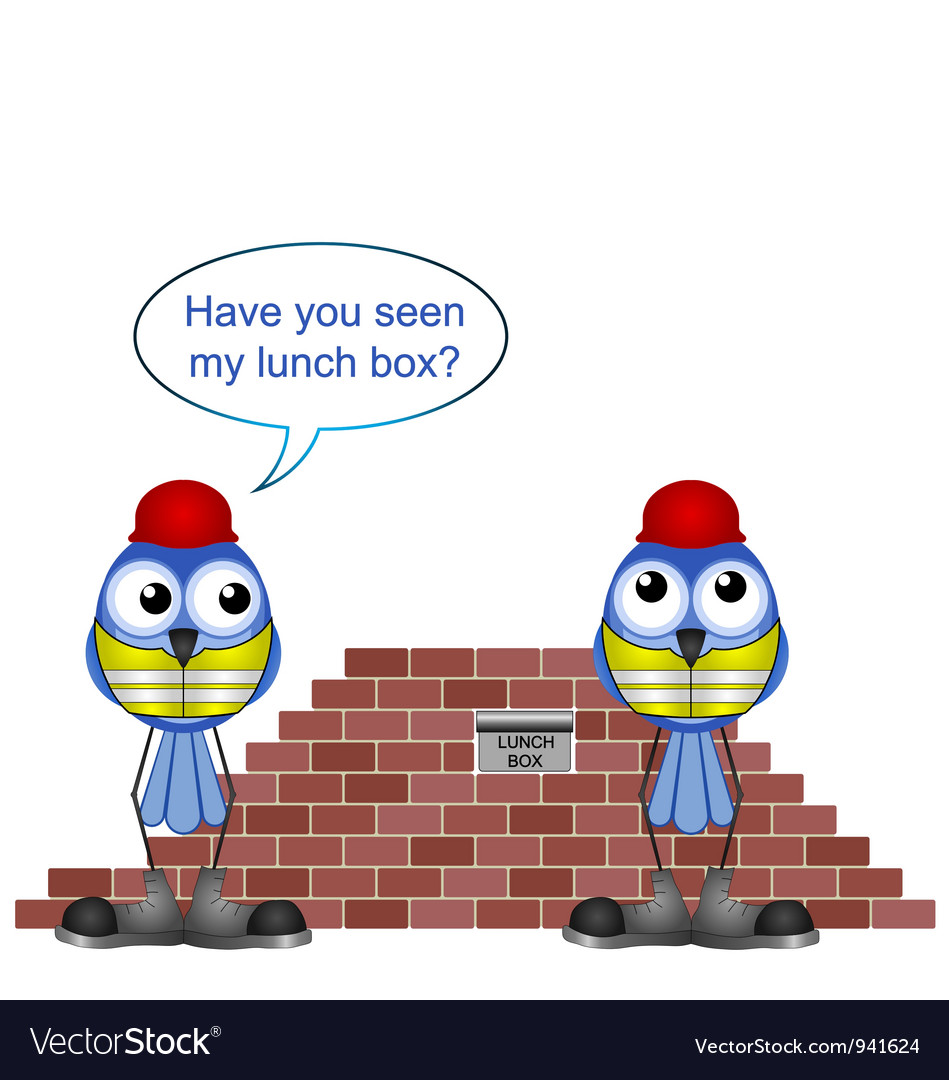 WORKERS LUNCH BOX vector image