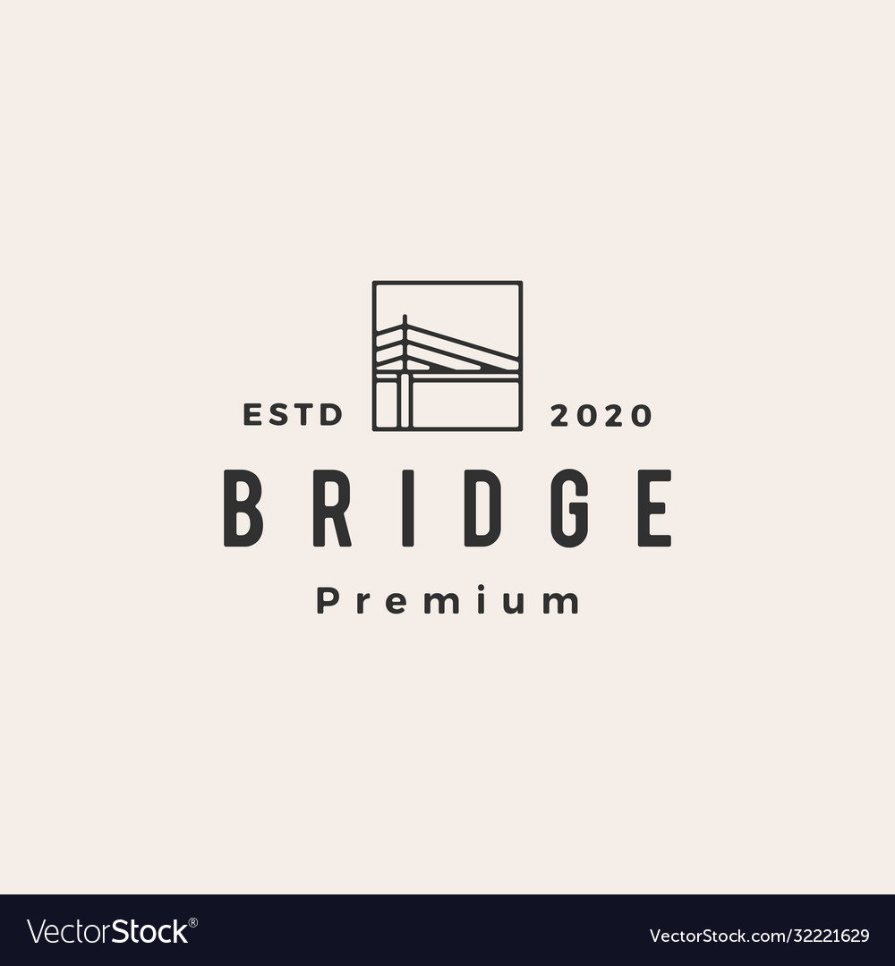 Bridge hipster vintage logo icon