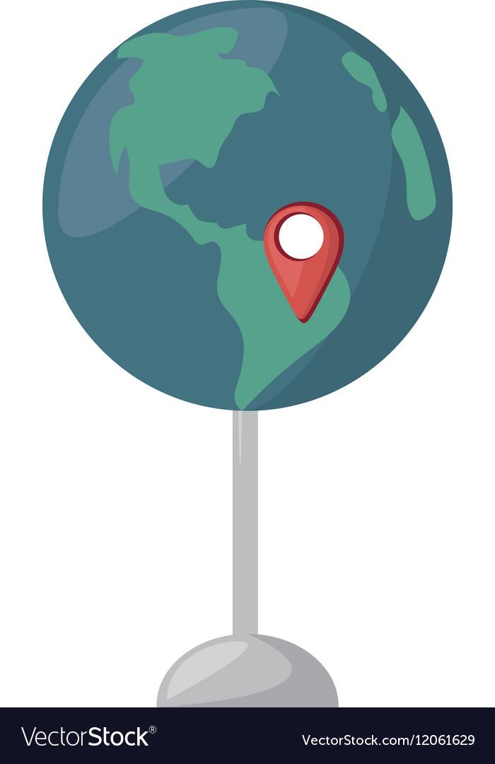 Globe map location continent