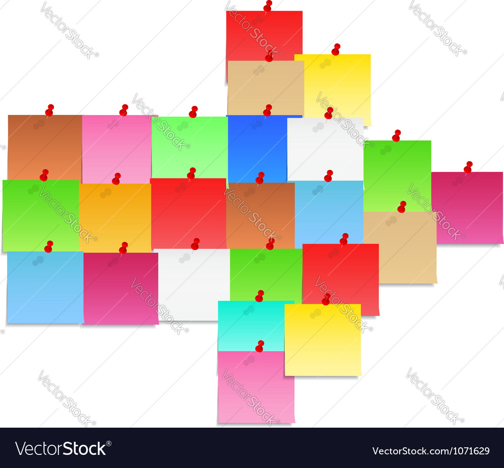 Papet notes shaped as arrow vector image