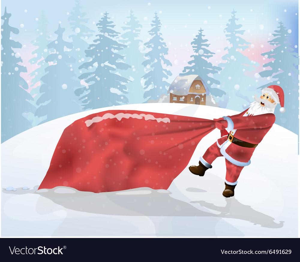 Santa Claus is a big bag of gifts