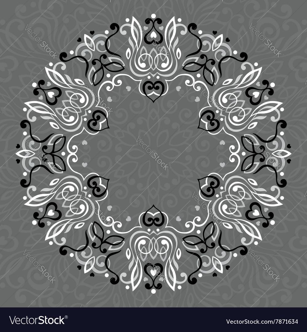 Abstract Ornate Mandala Decorative frame for