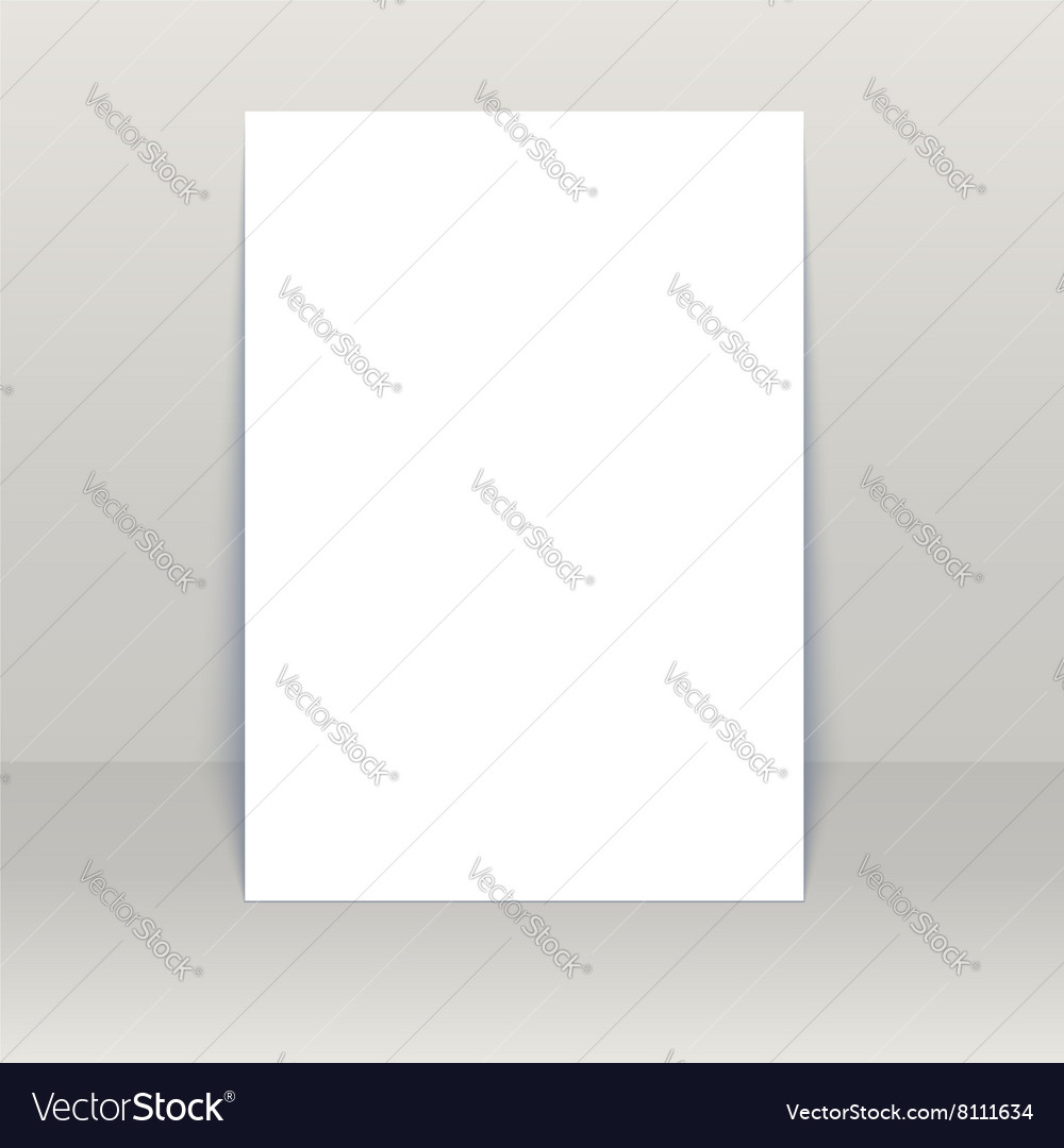 blank poster mock up royalty free vector image