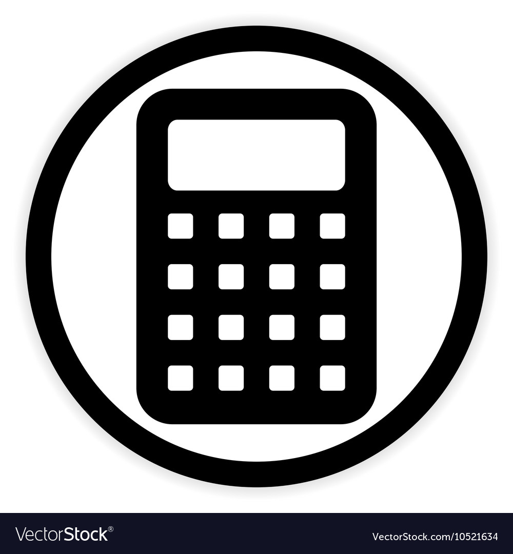 calculator button on white royalty free vector image. Black Bedroom Furniture Sets. Home Design Ideas
