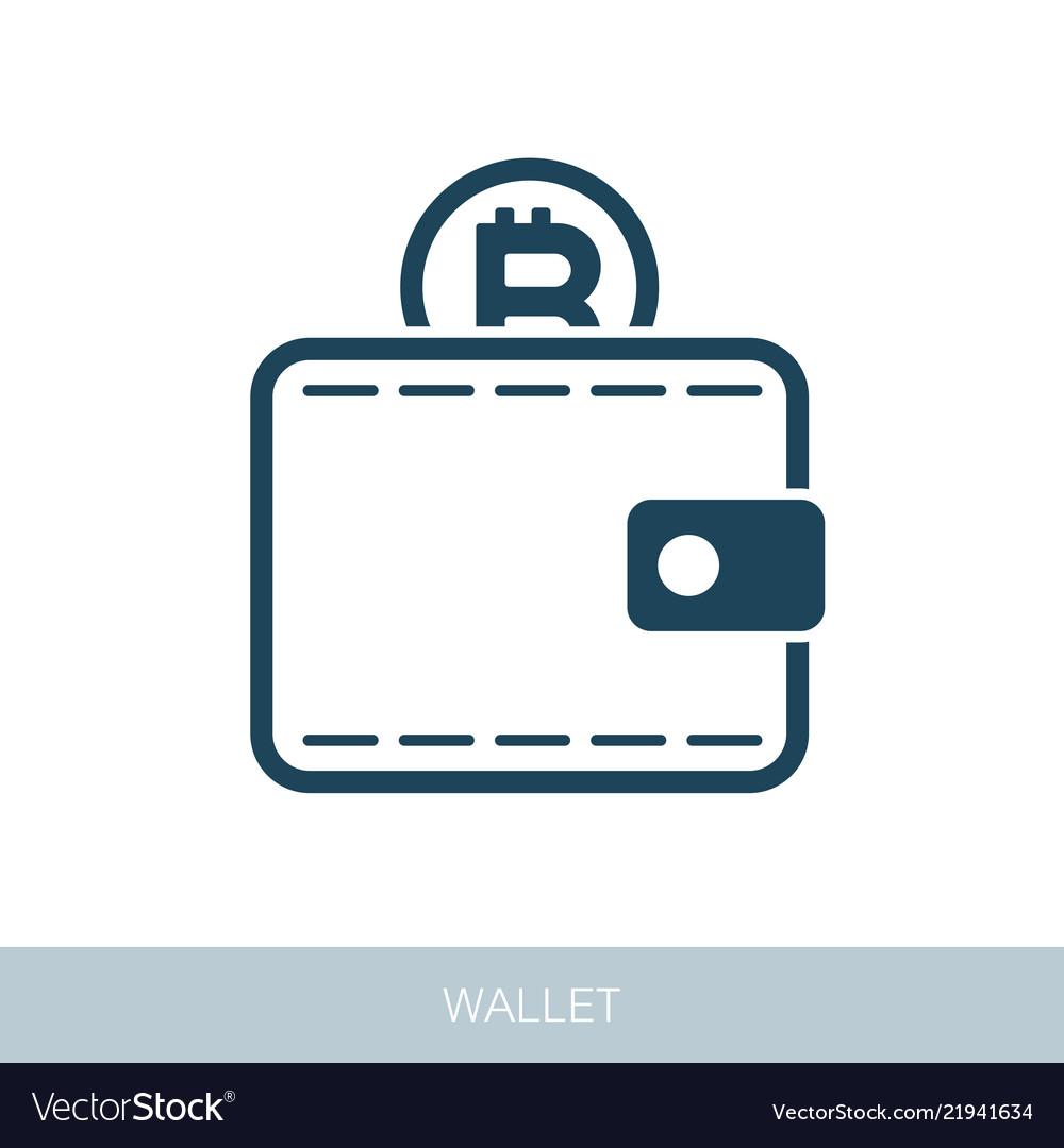 Crypto Wallet Icon Vector Image