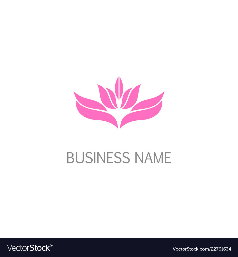 Lotus Flower Leaf Blossom Beauty Logo Royalty Free Vector