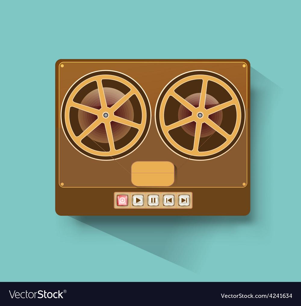 Retro recorder vector image