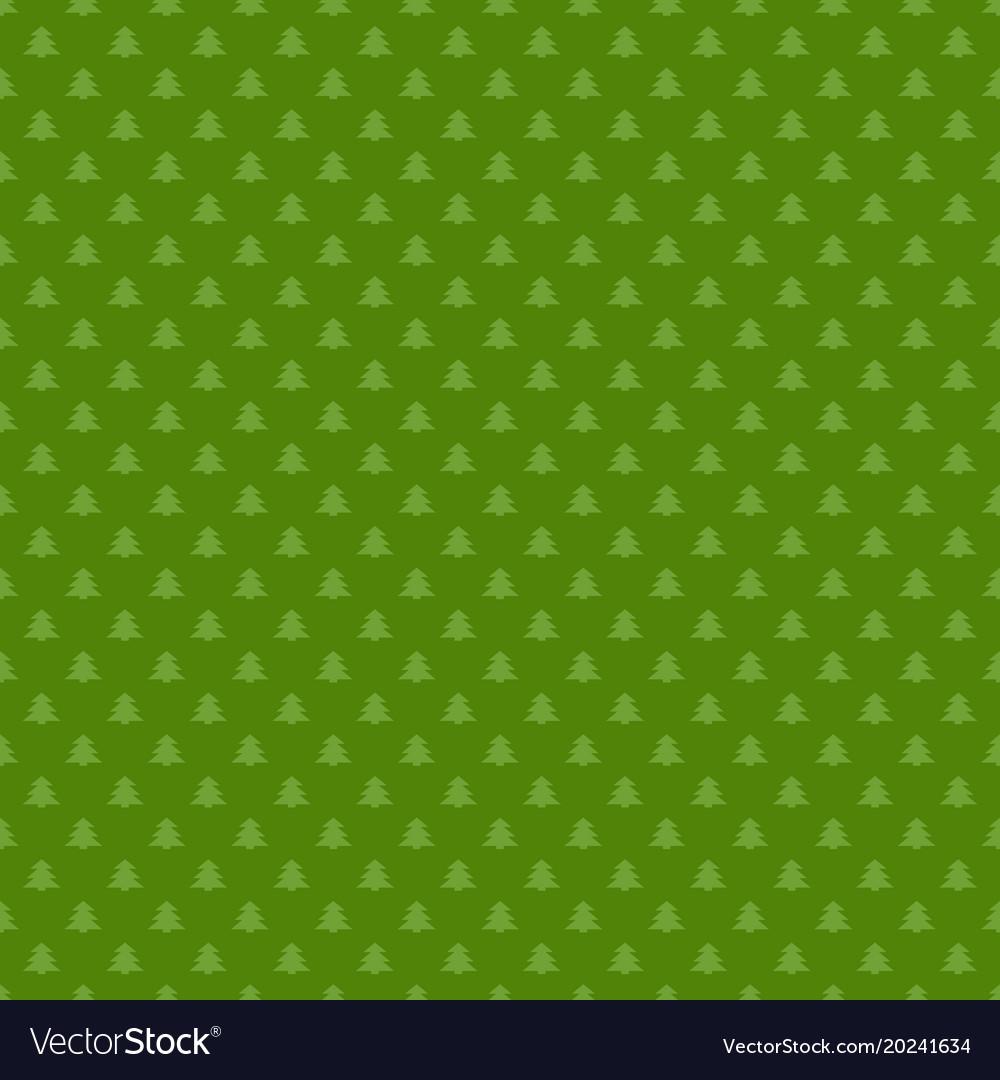 Seamless simple geometrical xmas tree pattern vector image