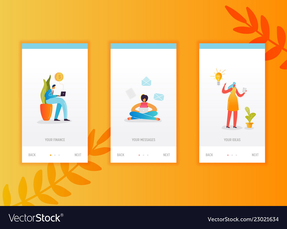 Social networking onboarding screens template