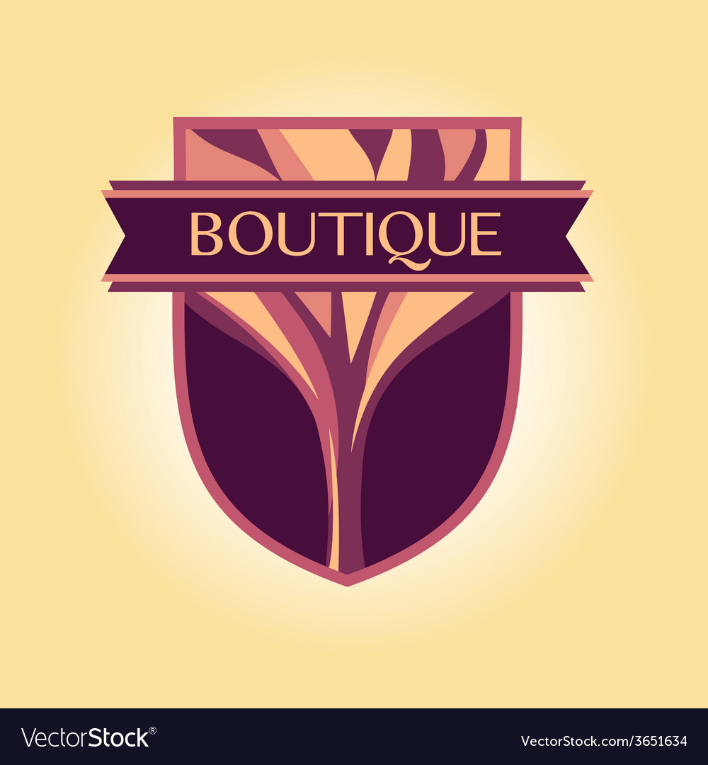 Style logo Clothing accessories wood products vector image