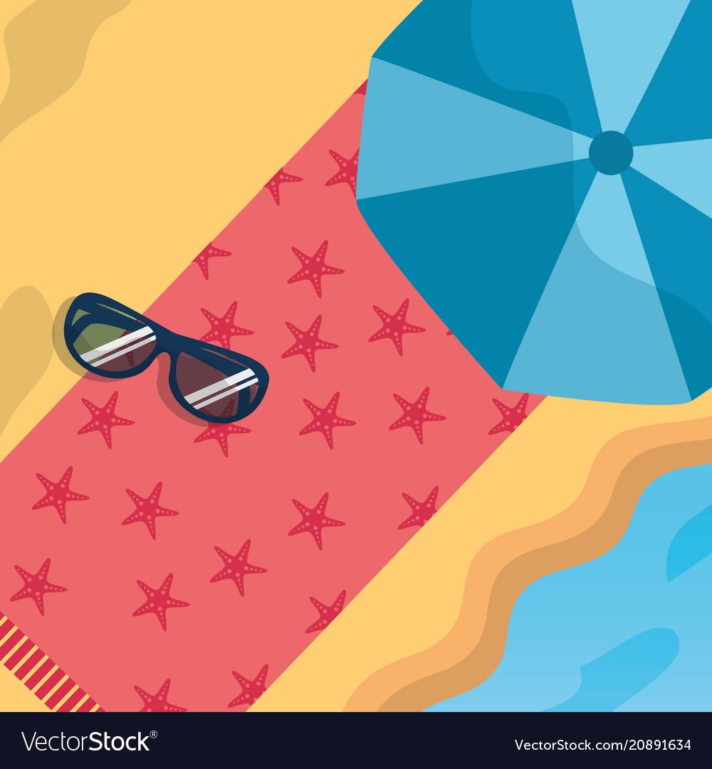 Summer time beach