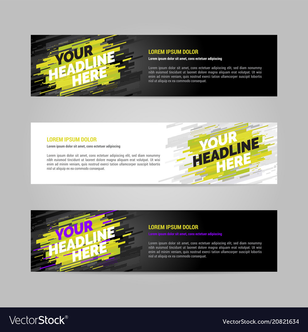Web banner layout templat design vector image