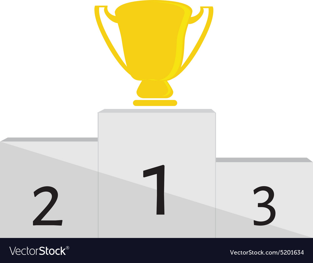 Winner podium vector image