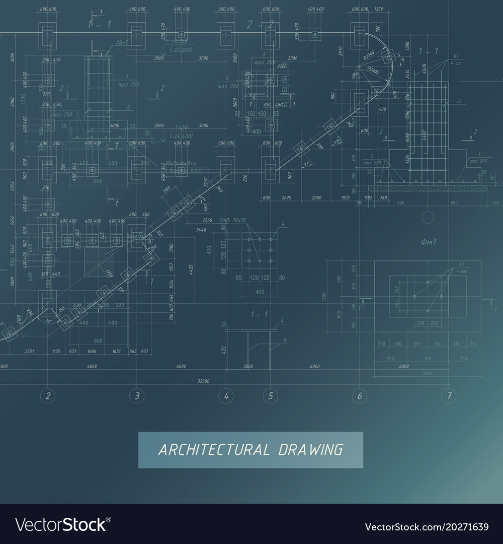 Architectural blueprint building background vector image malvernweather Gallery