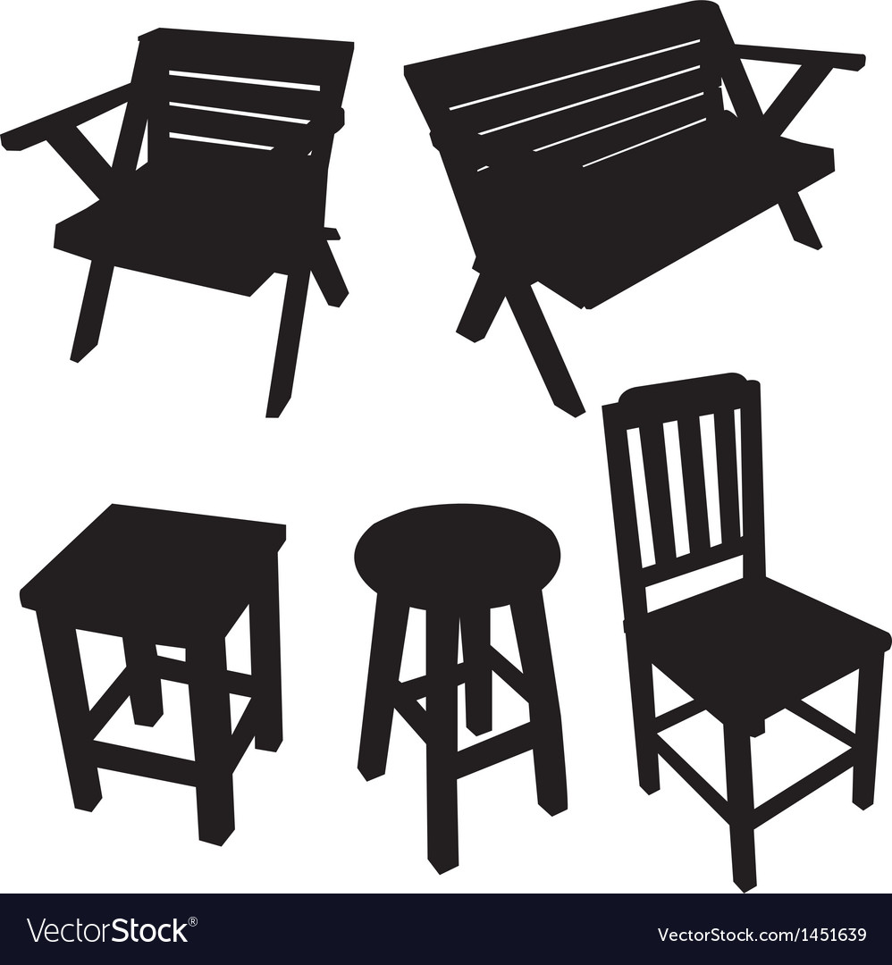 Chair silhouette vector image