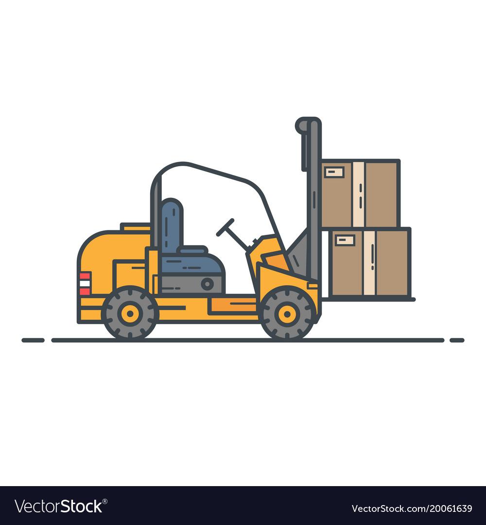 Counter-balanced forklift truck