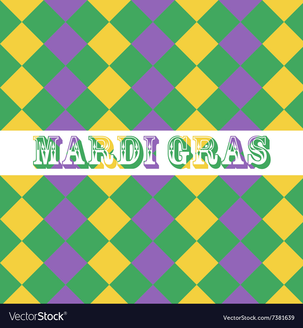 Mardi Gras seamless pattern background vector image