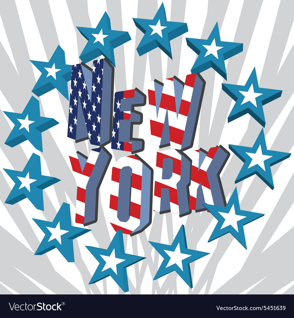 New York City retro vintage typography poster