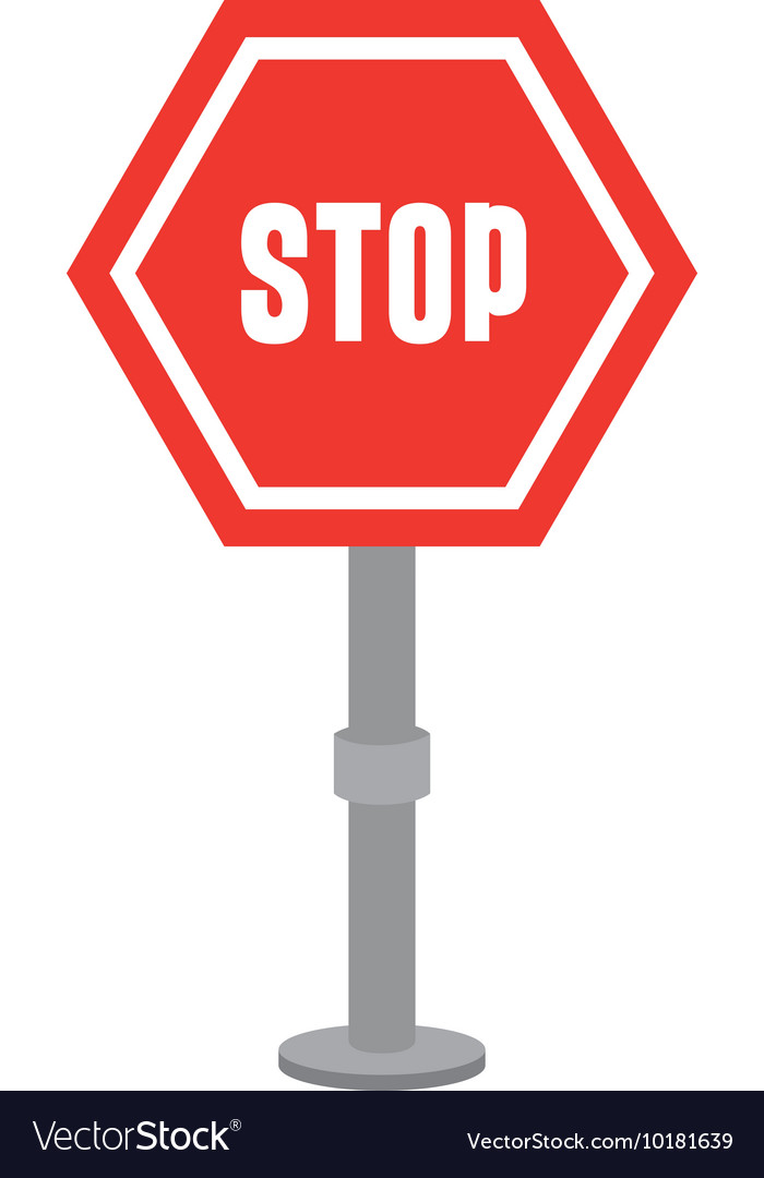 Stop advert signpost icon