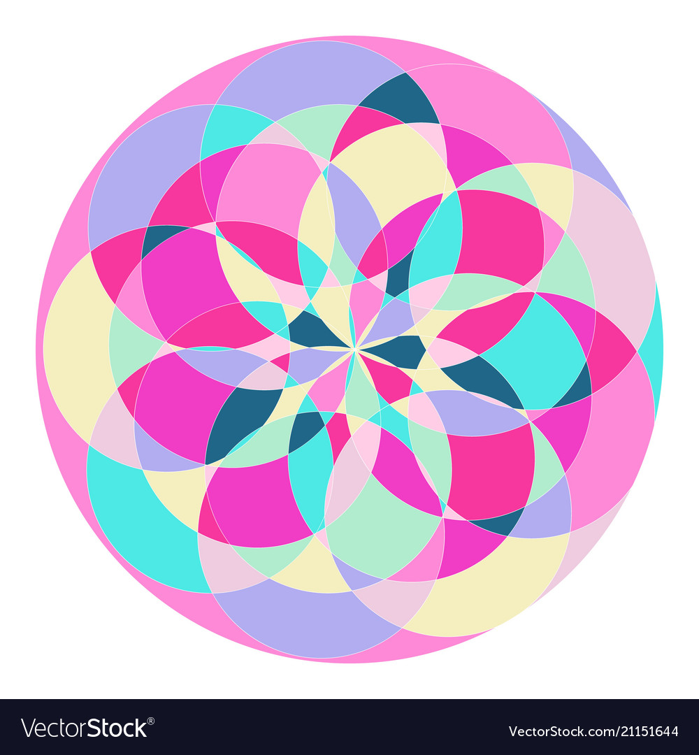 Abstract pattern in the form of a circle