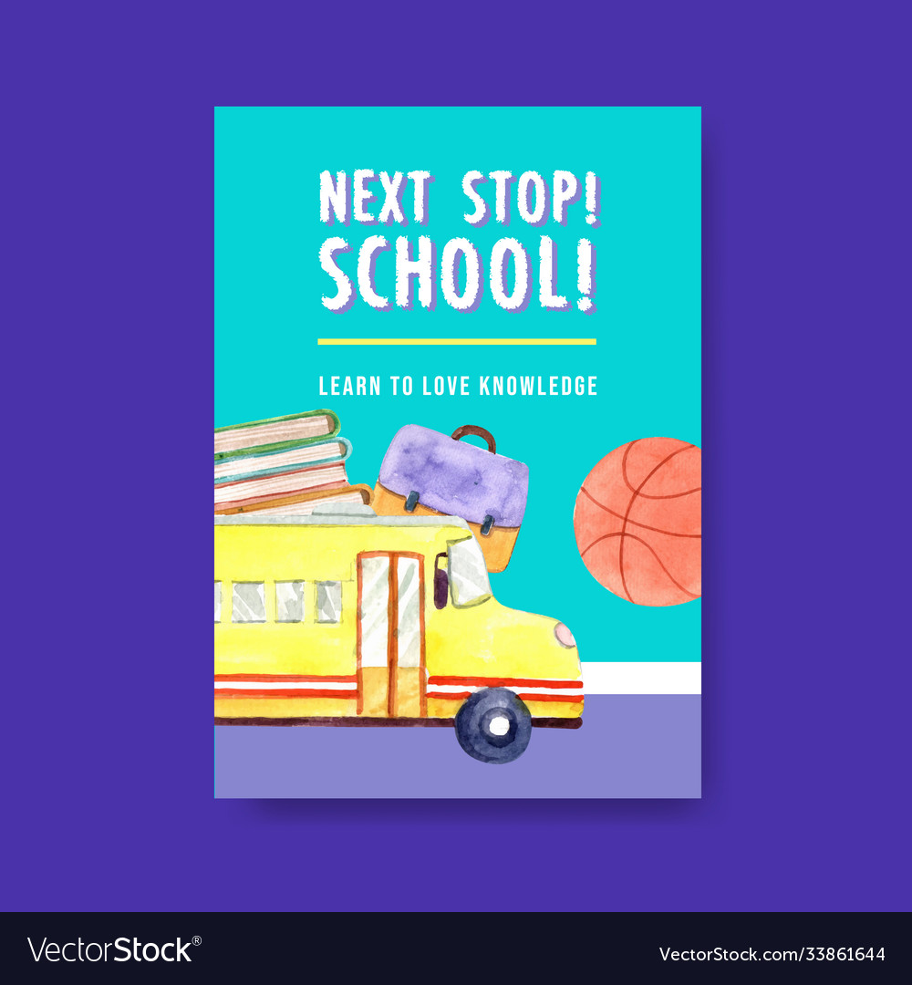 Back to school and education concept with poster