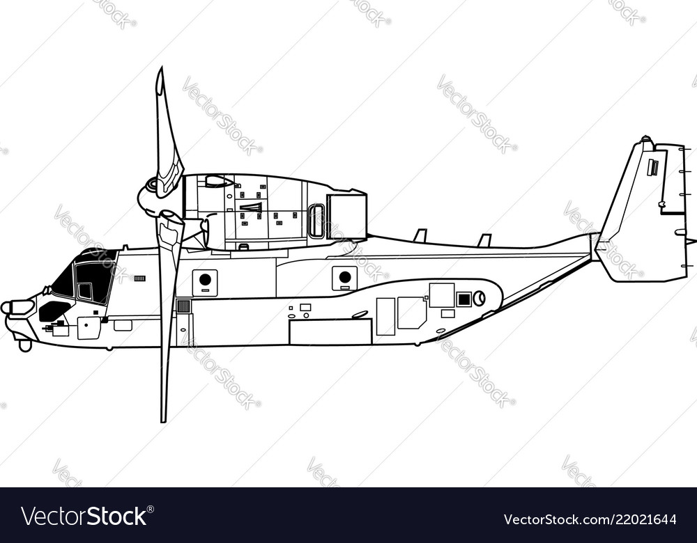 boeing vertol v 22 osprey royalty free vector image Osprey Platform boeing vertol v 22 osprey vector image