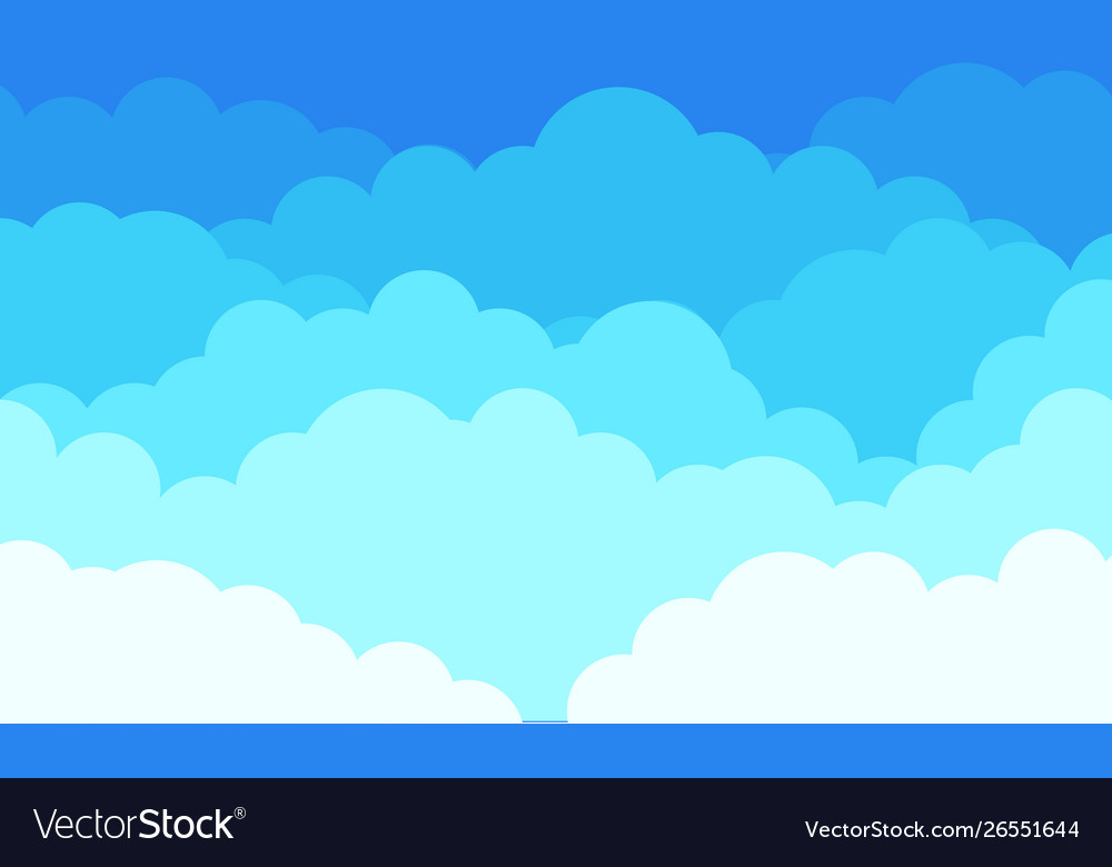 Cloud background cartoon blue sky with white