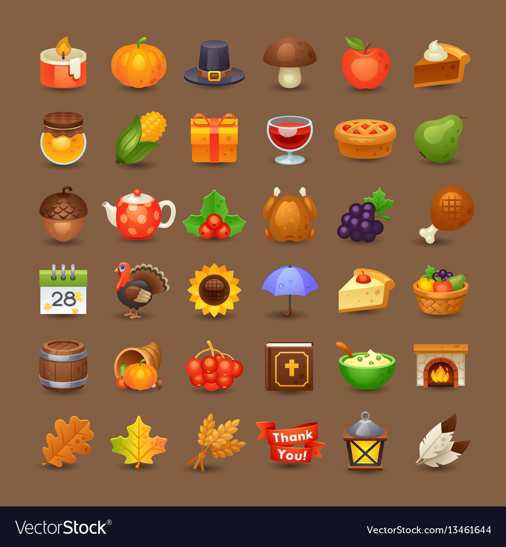 Cute thanksgiving icons