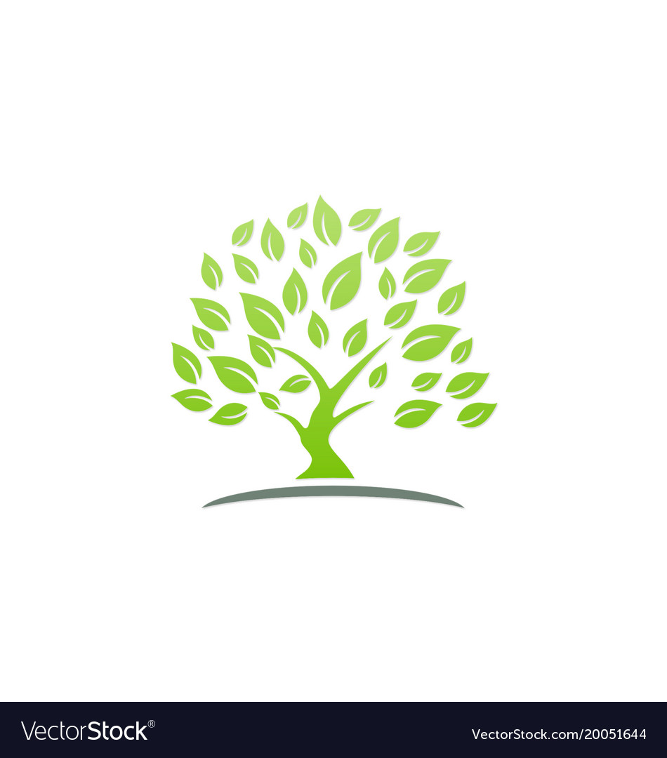 Green tree ecology logo vector image