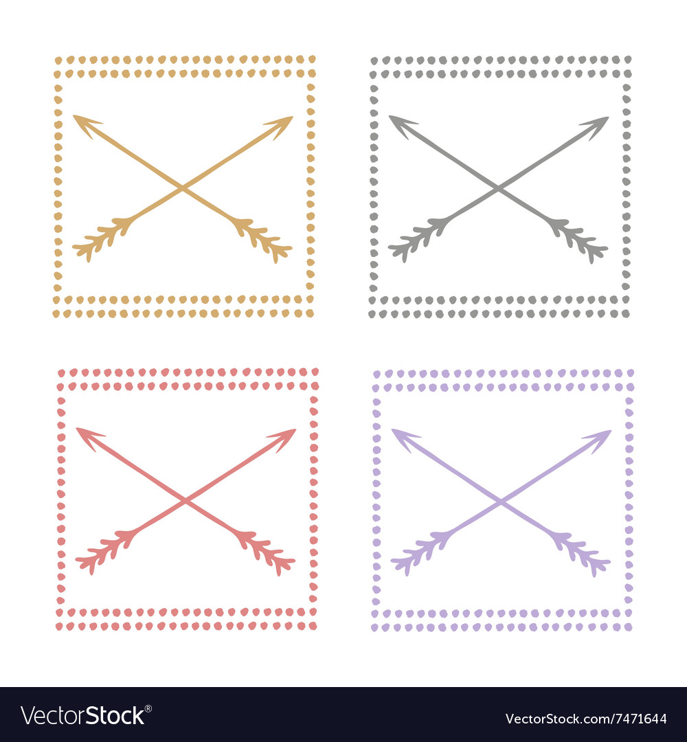 Hand drawn set icons love pastel vector image